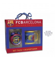 Set Regalo Reloj + Despertador F.C. Barcelona