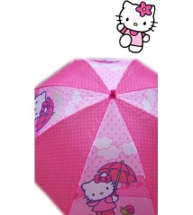 Paraguas Hello Kitty 48 cm. automático nubes.