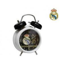 Reloj despertador Real Madrid blanco 12x9x4 cm.