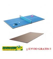 Tabla ping pong y mesa comedor marron