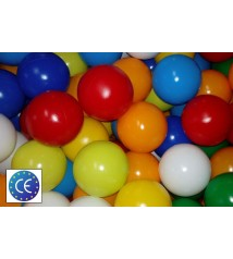 Caja de 100 Bolas para Parques Infantiles, 85 mm. Multicolor. ULTRA RESISTENTES.